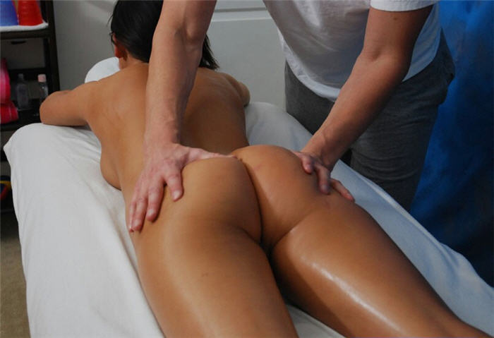 tres hot massage en video